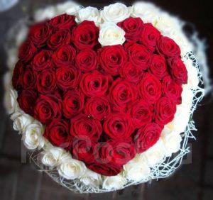 Цветы в виде сердца фото и картинки 022