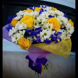 Цветы хризантемы желтые букет фото 027