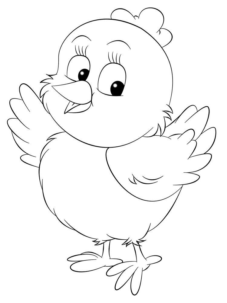 Цыпленок контур картинки
