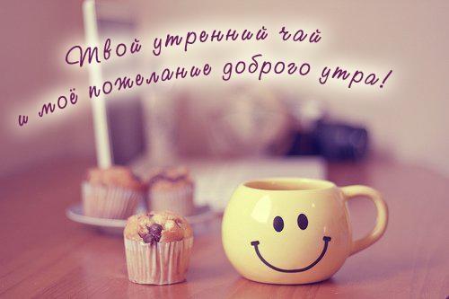 Чашка чая с добрым утром   картинки 009