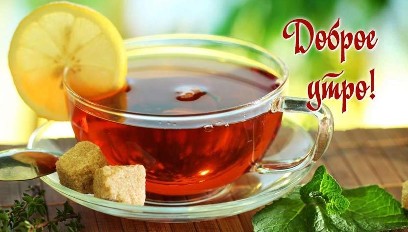 Чашка чая с добрым утром   картинки 022