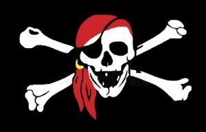 Череп пиратский на белом фоне   картинки 021