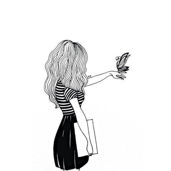 Черно белые девочки для лд   красивые рисунки 020