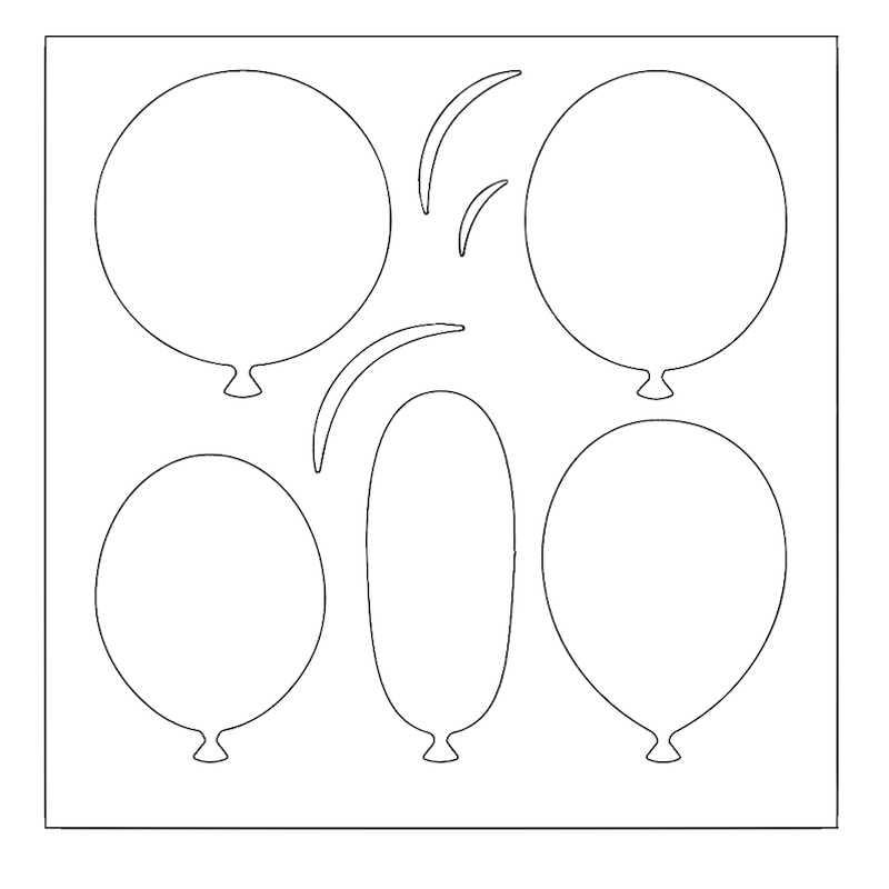 шарики воздушные рисунок шаблон это