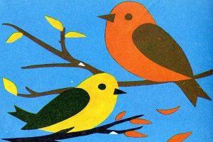 Шаблон птичка для аппликации   картинки027