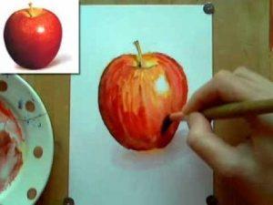 Яблоко рисунки для детей 021