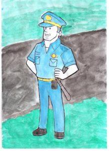Я и мой полицейский рисунок   картинки 020