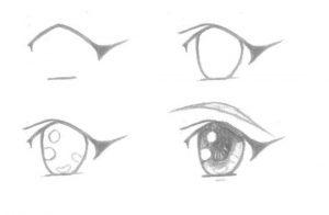 картинки для начинающих рисовать аниме 023