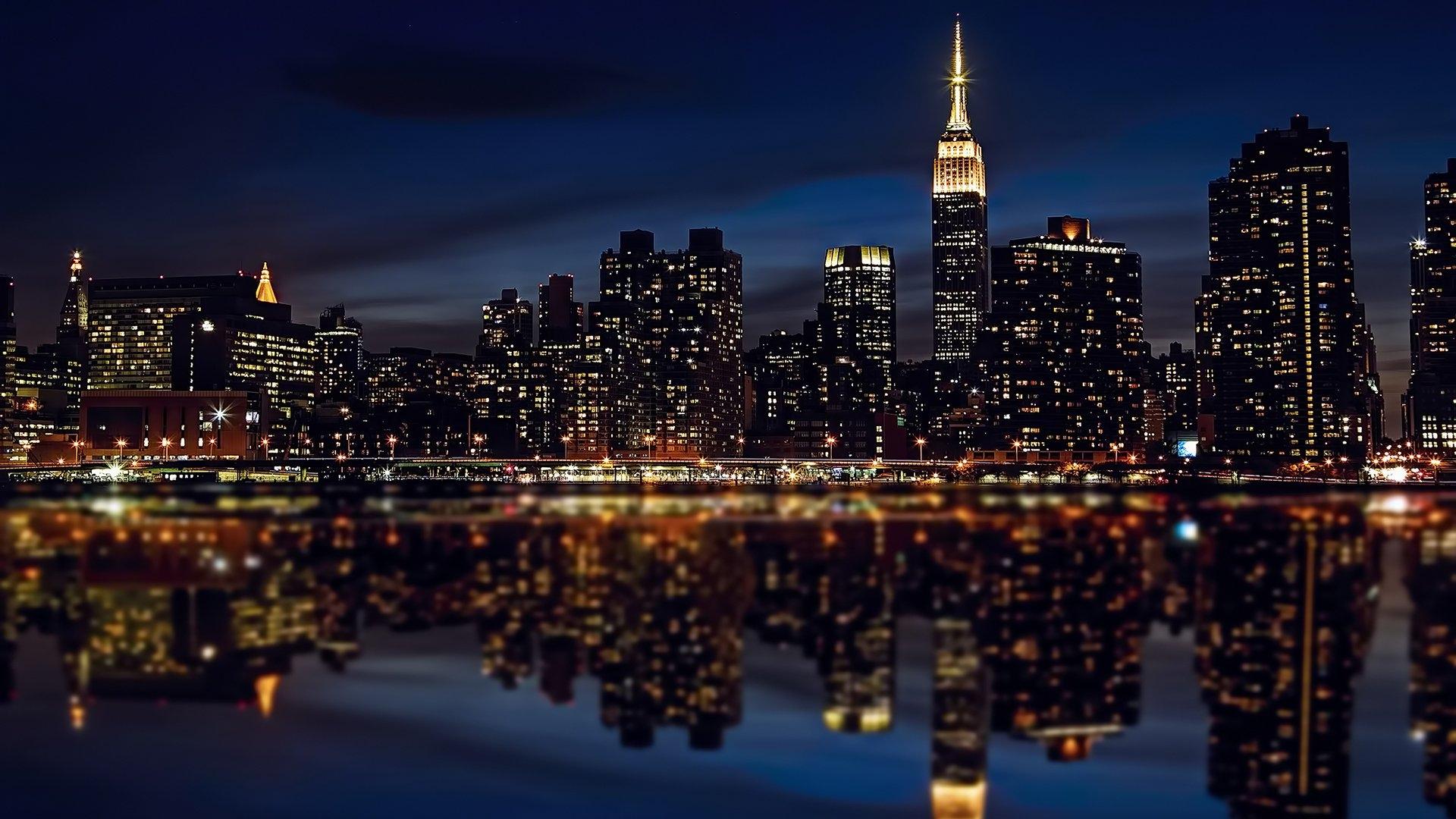 фишка картинки для рабочего город ночью птицы самый