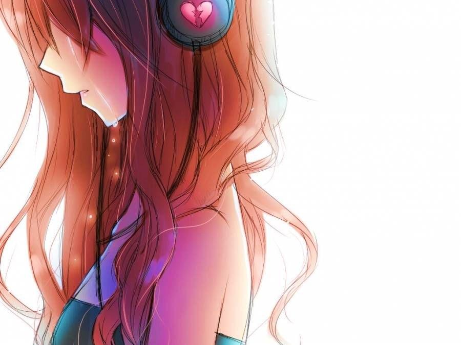 Аниме картинки девушки с наушниками015