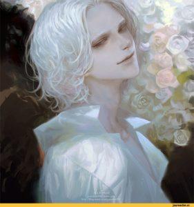 Арт парни с белыми волосами   красивые002
