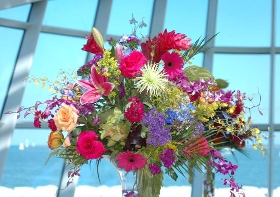 Букеты из садовых цветов фото   красивые001