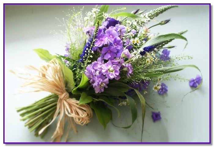 Букеты из садовых цветов фото   красивые002