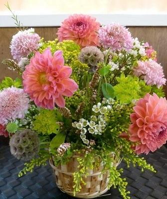 Букеты из садовых цветов фото   красивые006