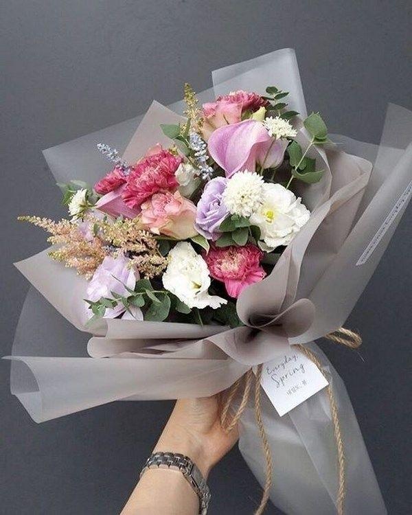Букеты из садовых цветов фото   красивые007