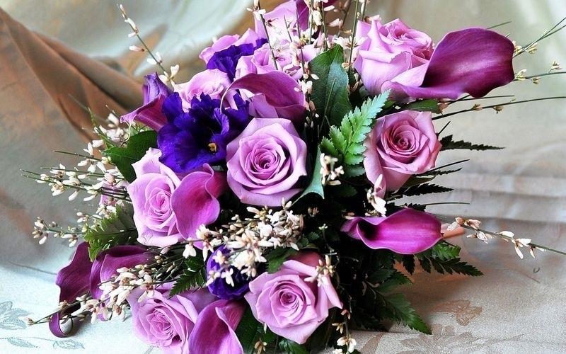 Букеты из садовых цветов фото   красивые010