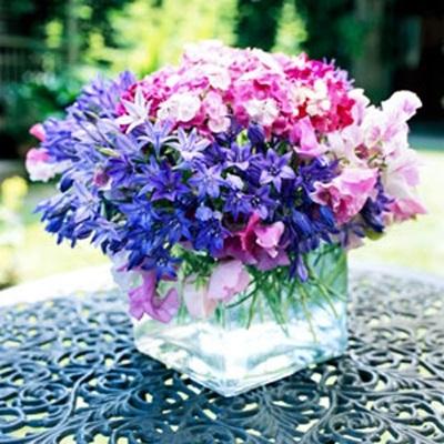 Букеты из садовых цветов фото   красивые012