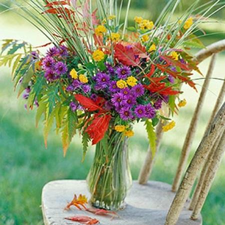 Букеты из садовых цветов фото   красивые013