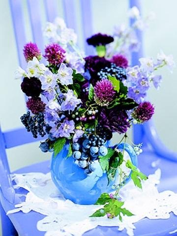 Букеты из садовых цветов фото   красивые016