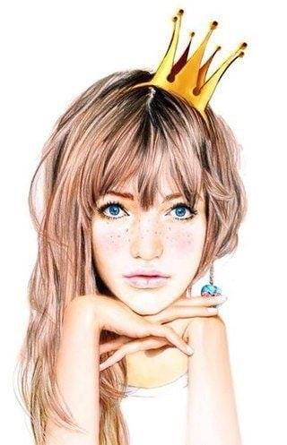 Девушка в короне на аву   красивая003