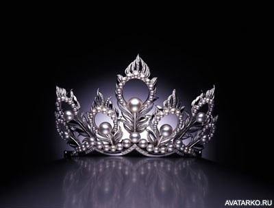 Девушка в короне на аву   красивая016