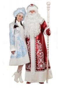Дед мороз и снегурочка красивые картинки   коллекция026
