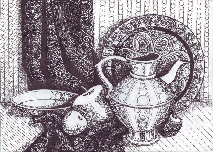 Декоративная графика картинки    рисунки001