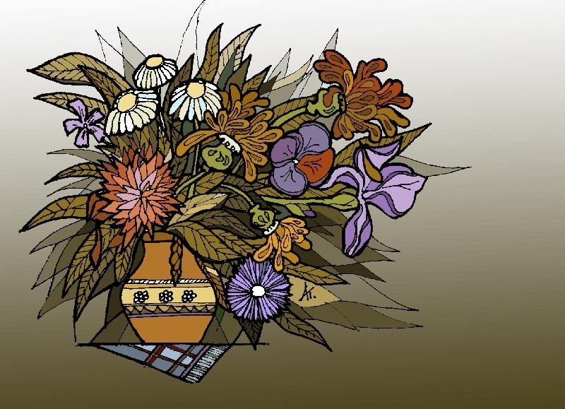 Декоративная графика картинки    рисунки003