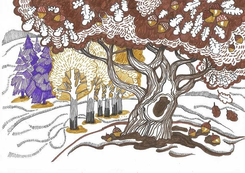 Декоративная графика картинки    рисунки011