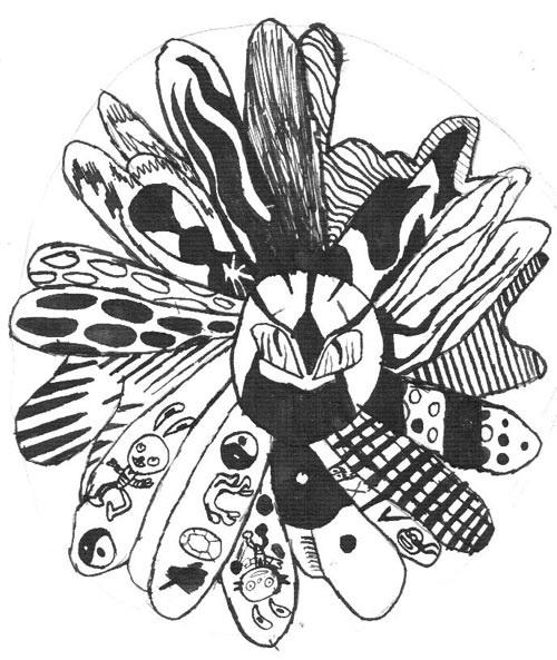 Декоративная графика картинки    рисунки016