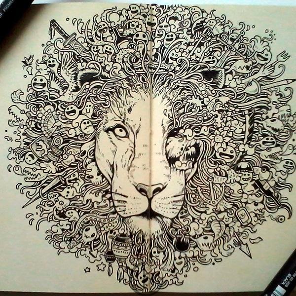Декоративная графика картинки    рисунки018