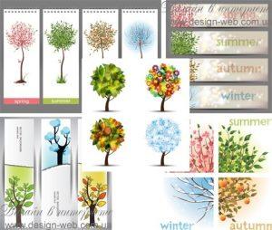 Деревья антураж графика   подборка019
