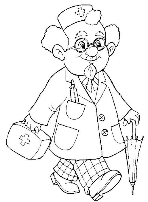 Доктор Айболит из сказки картинки   рисунки007