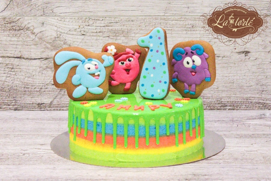 Картинка на торт смешарики   фото006