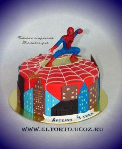 Картинка спайдермена для торта    фото001
