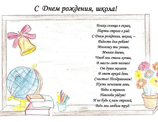 Картинка школа с днем рождения   рисунки006