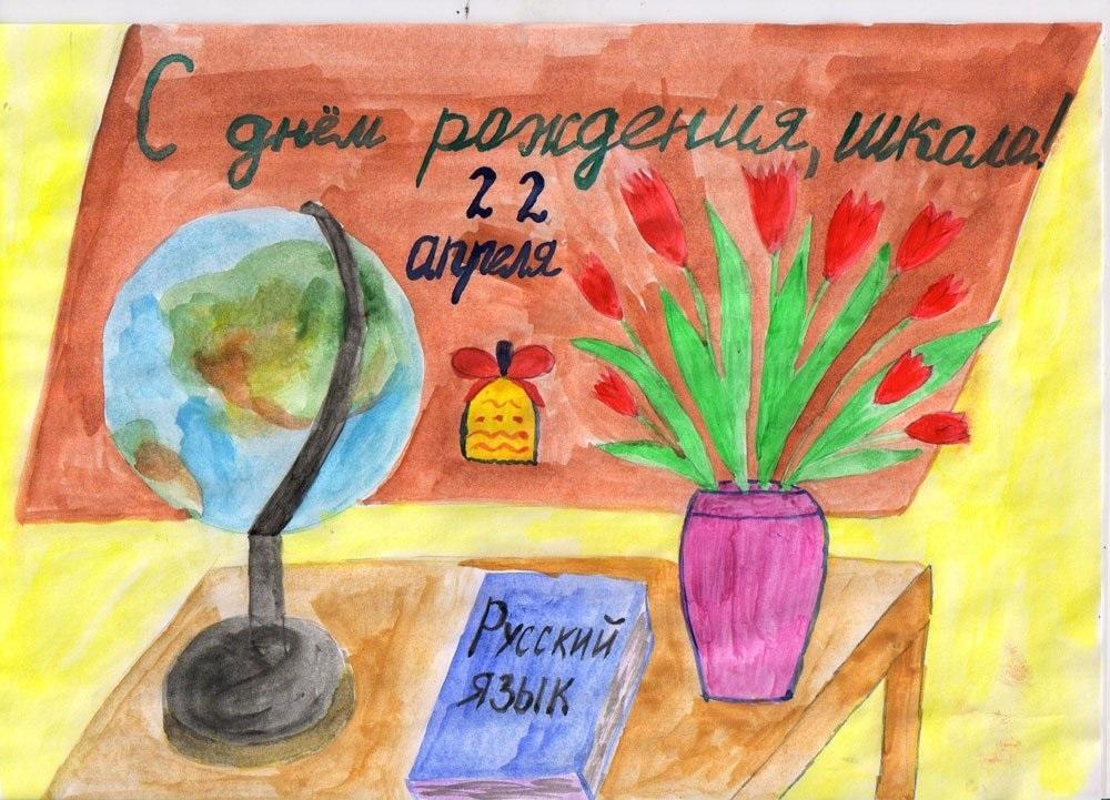 Картинка школа с днем рождения   рисунки017