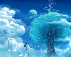 Картинки аниме небо   красивые фото020