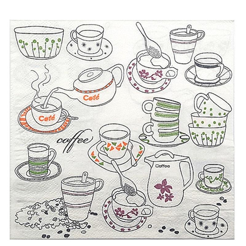 Картинки для декупажа кофе чай   прикольные011