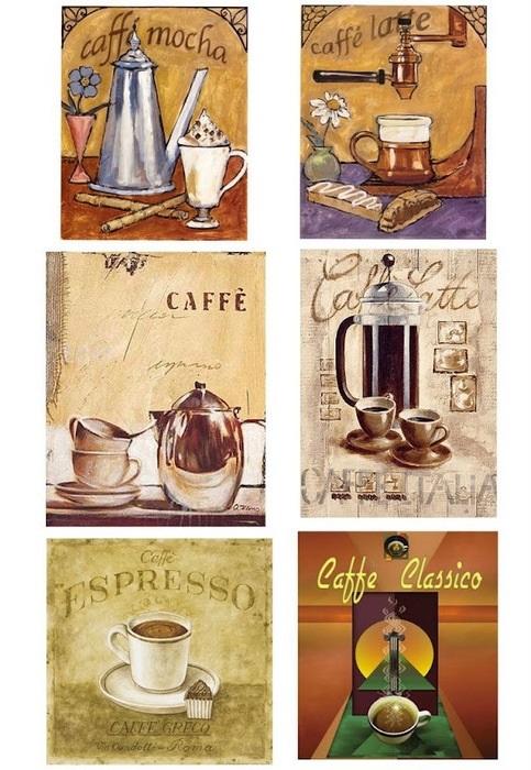 Картинки для декупажа кофе чай   прикольные016
