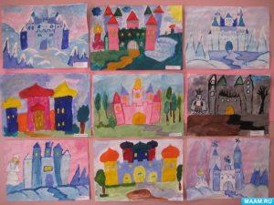 Картинки для детей сказочный замок   волшебный017