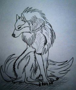Картинки для срисовки аниме волки   скачать020