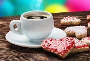 Картинки кофе с печеньем   подборка002