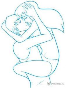 Картинки нарисованные карандашом влюбленные пары   милые019