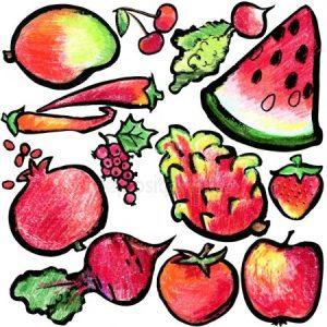 Картинки нарисованные овощи и фрукты   красивые020