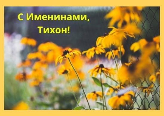 Картинки на именины Тихона с днём ангела   открытки006