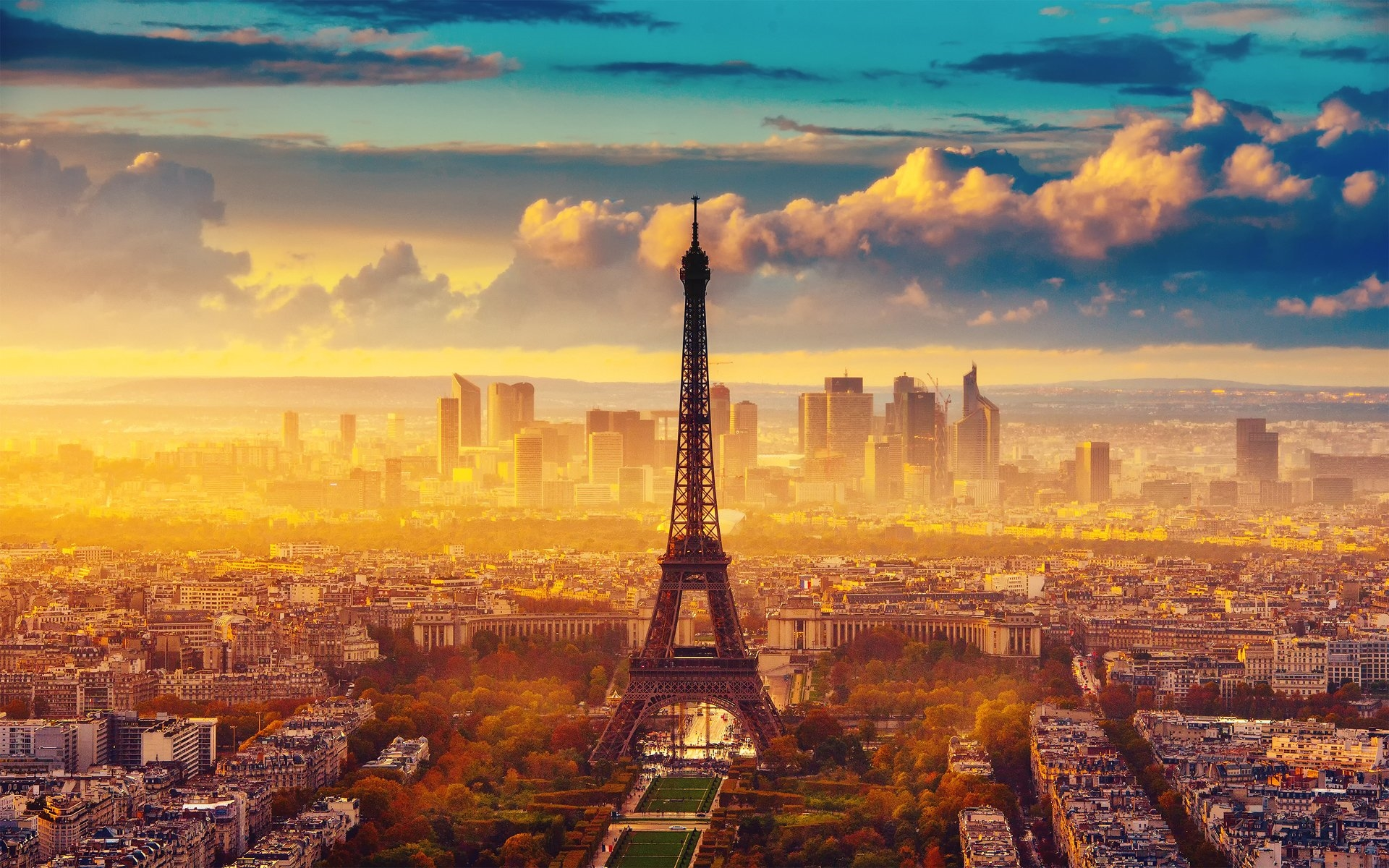 Картинки на рабочий стол осень в Париже009