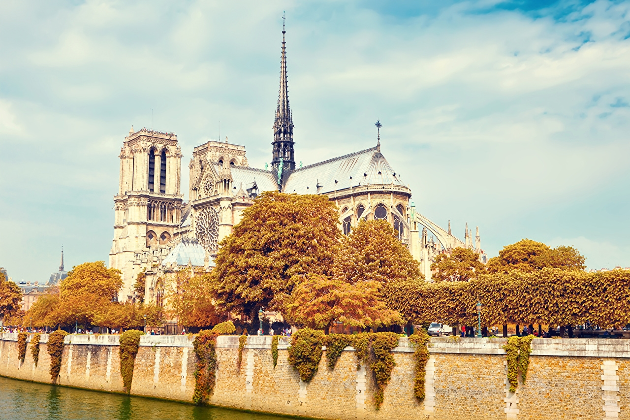 Картинки на рабочий стол осень в Париже013