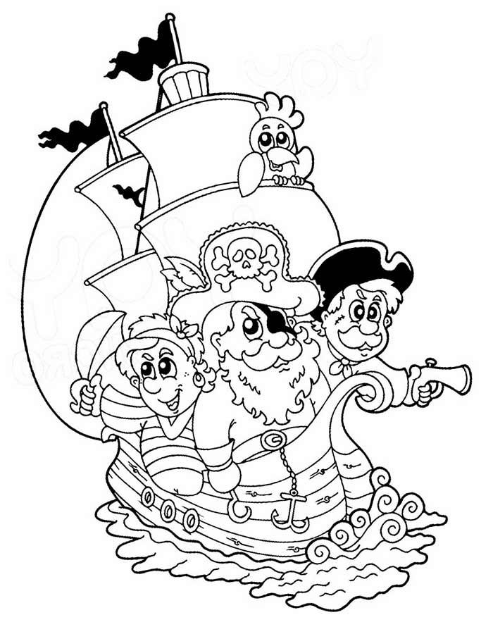 Картинки про пиратов для детей   рисунки019