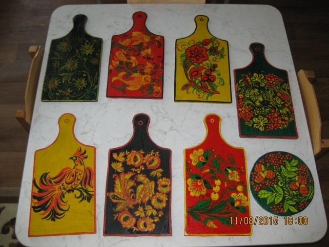 Картинки разделочная доска хохлома   рисунки003